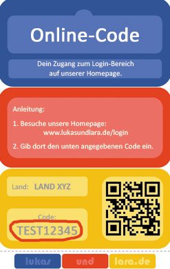 Online-Code Rückseite