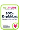Produktsiegel NetMoms - 100% Empfehlung