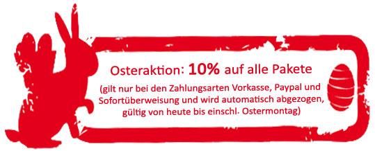 Osteraktion - 10% Rabatt auf alle Pakete von Lukas und Lara auf Tour