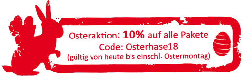 Osteraktion 2018 Lukas und Lara auf Tour - 10% Rabatt auf alle Pakete