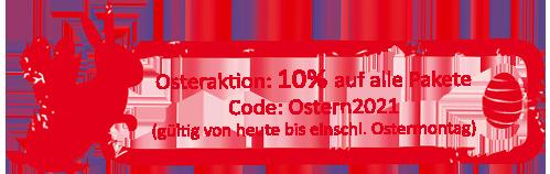Osteraktion 2021 - 10% Rabatt auf alle Pakete