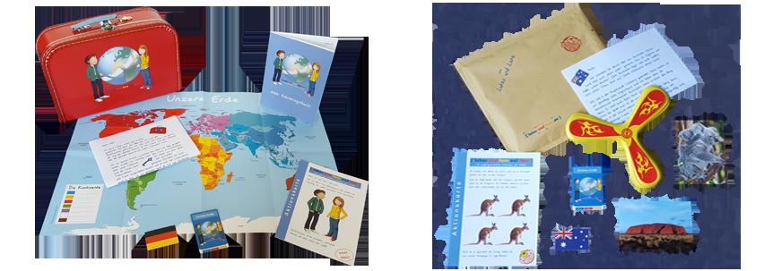Lukas und Lara auf Tour Startpaket und Beispiel für Länderbrief