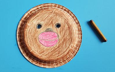 Tiermaske Affe selber basteln - Bild 5
