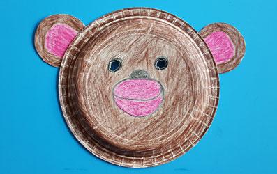 Tiermaske Affe selber basteln - Bild 7