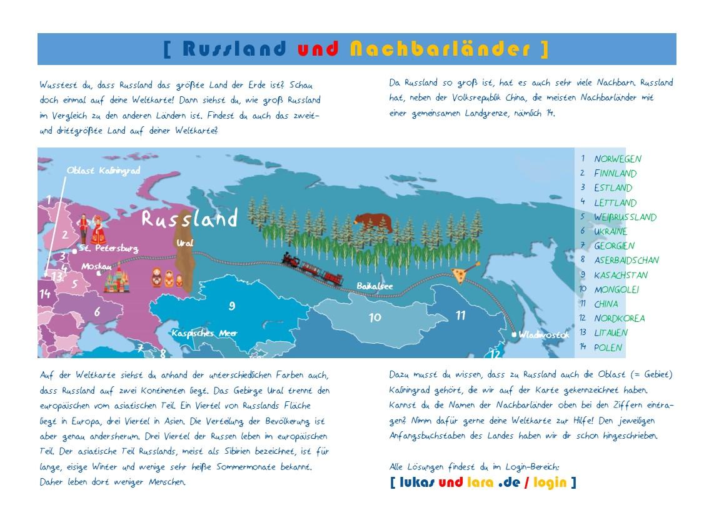 Aktionskarte Russland - Die Lösungen