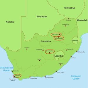 Hauptstaedte Suedafrika