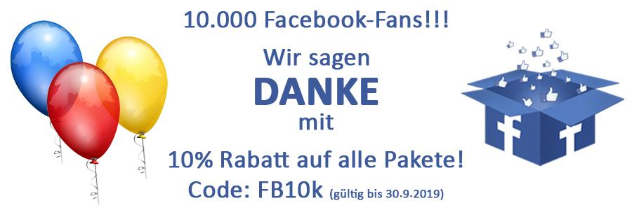 Rabattaktion 10% - 10.000 Facebook Fans