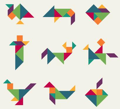 Weitere Tangram-Figuren